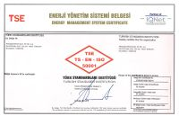TS EN ISO 50001 Energy Management Systems Certificate