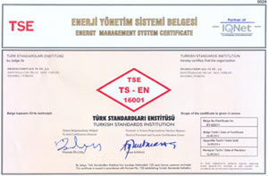 TS EN 16001 Energy Management Systems Certificate